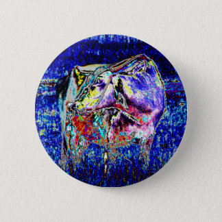 Bovine in blue 2 inch round button
