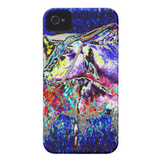 Bovine in blue iPhone 4 cover