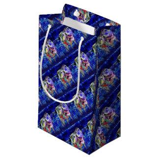 Bovine in blue small gift bag