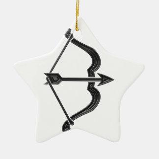 Bow and Arrow Ceramic Ornament