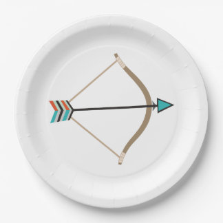 Bow and Arrow Paper Plate