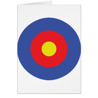 bow and arrow target - aim card
