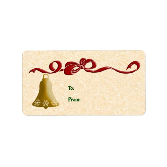 Bow And Bell Gift Tags