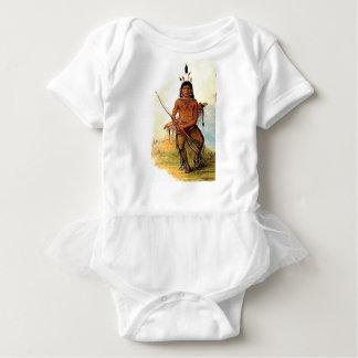 bow armed warrior baby bodysuit