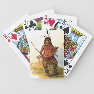 bow armed warrior bicycle playing cards