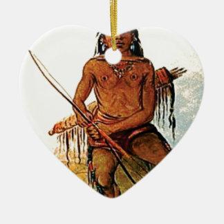 bow armed warrior ceramic ornament