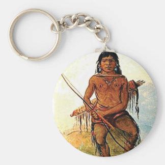 bow armed warrior keychain
