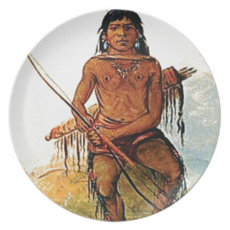 bow armed warrior plate