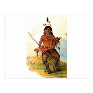 bow armed warrior postcard