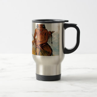 bow armed warrior travel mug