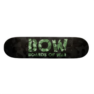 BOW Boards Of War Black and Green Camo Logo Deck Skate Deck