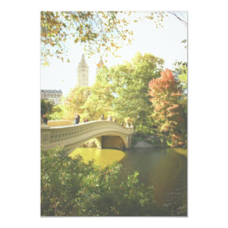 Bow Bridge Central Park Wedding Invitation