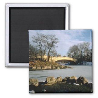 Bow Bridge Central Park Winter NYC Magnet