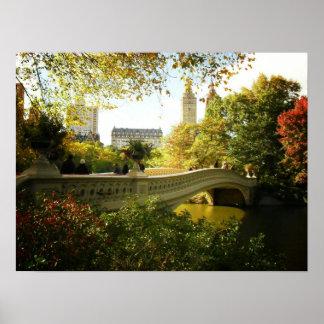 Bow Bridge in Autumn Central Park NYC Medium Print