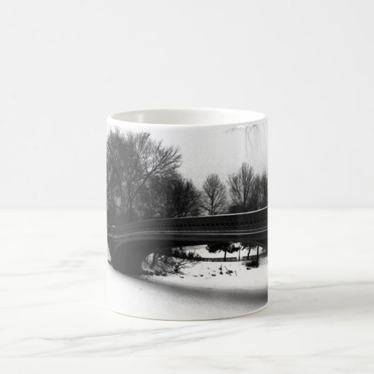Bow Bridge Winter Central Park NYC Coffee Mug
