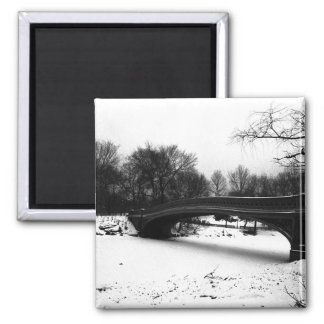 Bow Bridge Winter Central Park NYC Magnet