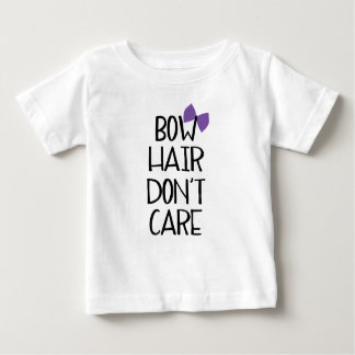 Bow Hair Don't Care - Funny Tee Purple Bow