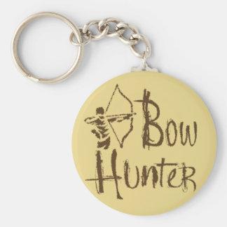 Bow Hunter Basic Round Button Keychain
