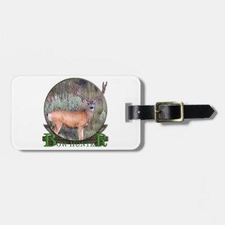 Bow hunter luggage tag