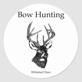 Bow Hunting (White Tail Buck) Classic Round Sticker