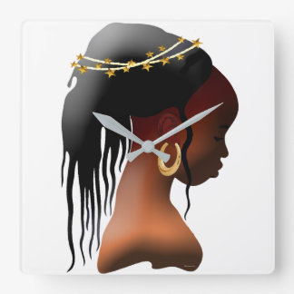 Bow In Prayer Square Wall Clock