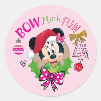Bow Much Fun Classic Round Sticker