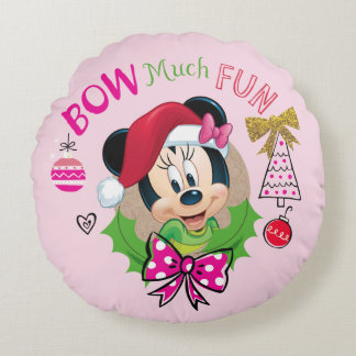 Bow Much Fun Round Pillow