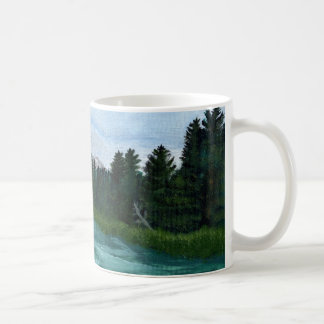 Bow River Acrylic Painting Coffee Mug