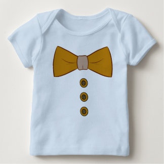 Bow Tie and Buttons Baby Tshirt