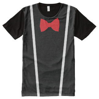 Bow Tie and Suspenders Black T-shirt