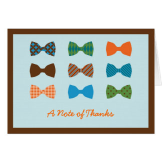 Bow Tie Baby Shower Thank You Card