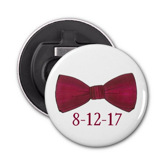 Bow Tie Bachelor Party Groom Wedding Bottle Opener Button Bottle Opener