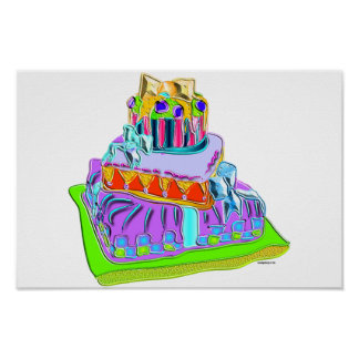 bow tie fancy cake poster