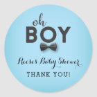 Bow Tie Little Man Baby Shower Favour Sticker