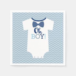 Bow Tie Little Man Baby Shower Paper Napkin