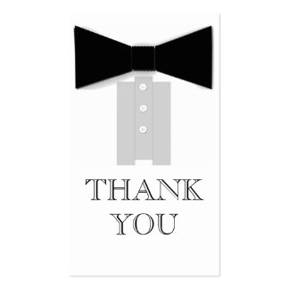 Bow Tie Thank You Cards Pack Of Standard Business Cards