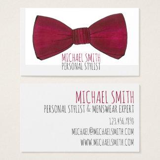 Bow Tie Wardrobe Personal Stylist Menswear Card