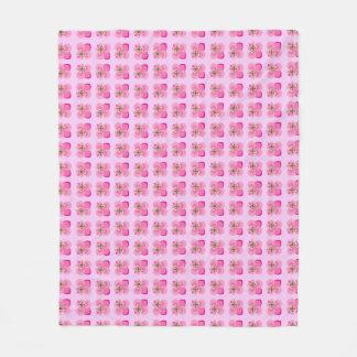 Bow-Tied Fleur De Lis pattern Fleece Blanket