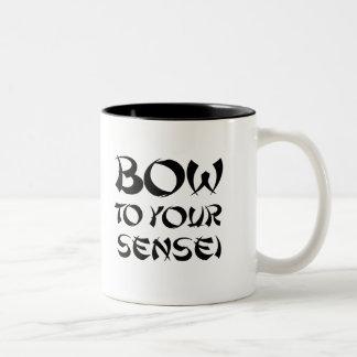 BOW TO YOUR SENSEI T-shirt Two-Tone Coffee Mug