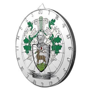 Bowen Family Crest Coat of Arms Dartboard