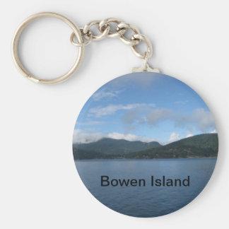 Bowen Island Canada Basic Round Button Keychain