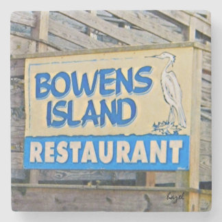 Bowens Island Restaurant, James Island, Charleston Stone Coaster