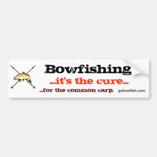 Bowfishing, the cure bumper sticker