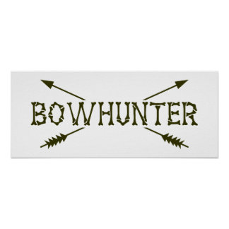 Bowhunter Crossed Arrows Poster