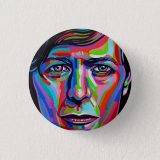 Bowie Color Face 1 Inch Round Button