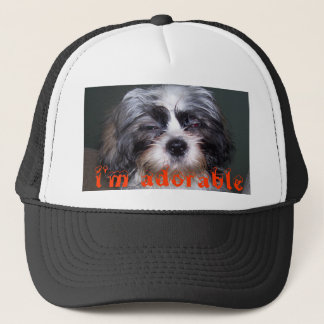 Bowie the Fuzzy Shih Tzu i'm adorable Baseball Hat