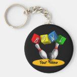 Bowl a Rama Bowling Basic Round Button Keychain