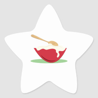 Bowl And Spoon Star Sticker