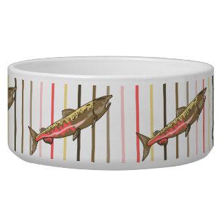 Bowl - Chinook Salmon on Stripes