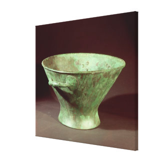 Bowl from one of the Chamber Tombs, Mycenae Canvas Print